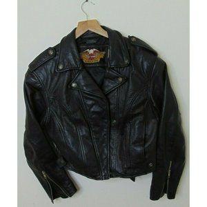 Vintage Harley Davidson M Leather Biker Jacket